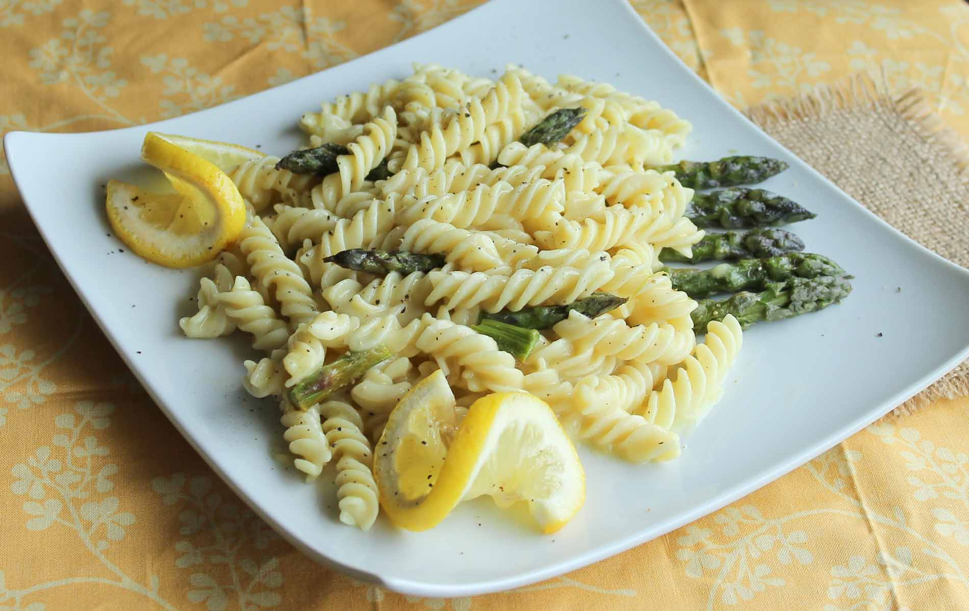 An artisan sourdough radiatori pasta dish