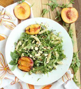 Peach_Arugula_Salad_With_Fusilli